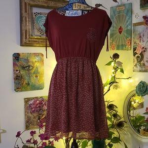Olive & Oak midi dress size large